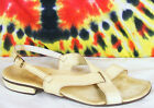6.5 M vintage 60's off-white leather Lord & Taylor RANGONI AMALFI sandals shoes