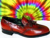 8.5 C mens vtg FLORSHEIM wing-tip tassel loafers shoes