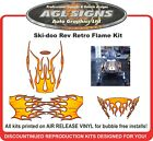 RETRO FLAME SLED WRAP for SKI-DOO rev 03-07, mxz renegade summit decal