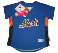 New York Mets Majestic MLB Cool Base Authentic Jersey- Women's Sizes - Blue -NWT
