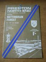 04/01/1969 Preston North End v Nottingham Forest [FA Cup] (Slight Creased & Worn