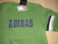 dickes Sweat-Shirt für Jungen@ADIDAS@ Gr. 140@PULLOVER @ grün / blau @ NEU !!!