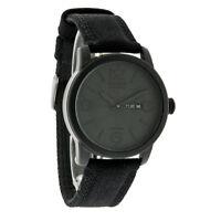 Citizen Eco-Drive Mens Black Ion Finish Day/DateCanvas Strap Watch BM8475-00F