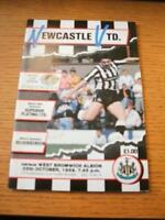 25/10/1989 Newcastle United v West Bromwich Albion [Football League Cup] . No ob