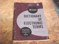 1964 ALLIED DICTIONARY OF ELECTRONIC TERMS BOOKLET