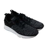 Puma Ignite Evoknit Lo Mens Black Textile Athletic Lace Up Training Shoes