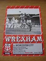 12/01/1988 Wrexham v Worcester City [Welsh Cup] . No obvious faults, unless desc