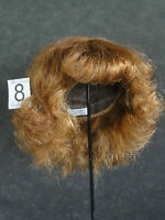 PELUCA de muñeca 100% cabellos T8(31.5cm) Rizada Castaño -50% SUPER PROMO