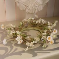 Blumenkranz Blütenkranz Wandkranz VINTAGE SHABBY ALTWEISS LANDHAUS Wandschmuck