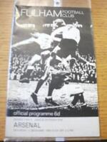 05/12/1964 Fulham v Arsenal  (Slight Creased). No obvio