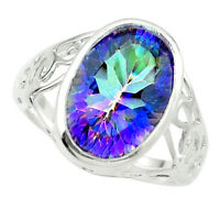 sale multi color rainbow topaz 925 sterling silver ring jewelry size 6 a84661