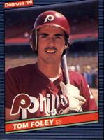 1986 Donruss Philadelphia Phillies Baseball Card #549 Tom Foley