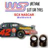 Urethane Slot Car Tyres x 4 Wasp 18 SCX NASCAR Front Rear