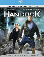 Hancock (Blu-ray Disc, 2008, 2-Disc Set, Unrated Special Edition) DISC IS MINT