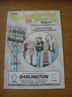 10/09/1985 Scunthorpe United v Darlington [Football League Cup] (Programme Dated