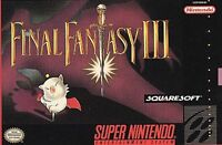 Final Fantasy III (Super Nintendo Entertainment System, 1994) VG - CART ONLY