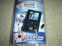 WALLET PIX - BLACK - Digital Photo Album - Credit Card Size - ASOTV - NEW