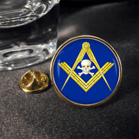Masonic Skull Masons Mason Lapel Pin Badge Gift Craft