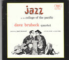 Dave Brubeck Quartet-Jazz At The College Of The Pacific CD