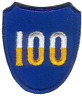 100TH INFANTRY DIVISION UNIT PATCH WWII (ORIGINAL)