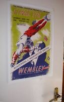 1948 FA Cup Final Poster of Programme Blackpool Man Utd