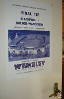 1953 FA Cup Poster of Programme Blackpool Bolton