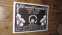 Jimi Hendrix Experience Vanilla Fudge Advert POSTER