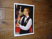 Stephen Hendry Snooker Legend Kiss Trophy Poster