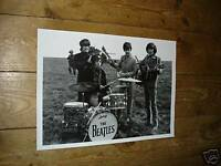 The Beatles Great New Poster Drums Field