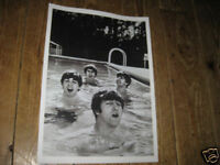 The Beatles in Swimming Pool 1960s Repro POSTER