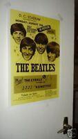 The Beatles Repro Tour Poster Washington DC