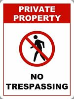 """Private Property No Trespassing Parking Sign 18""""x12"""""""