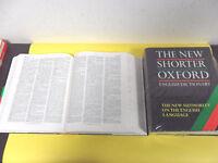 THE NEW SHORTE OXFORD ENGLISH DICTIONARY.DIZIONARIO MONOLINGUE INGLESE 2 VOL.