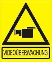 Hinweisschild VIDEOÜBERWACHUNG 18 x 15 cm