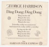 "George Harrison/Beatles ""Ding Dong"" 7"" USA"