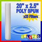 "20"" x 2.5"" Poly Spun Sediment Filter 1 5 or 25 Micron Filter BULK BUY x 25"