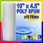 "10"" x 4.5"" Poly Spun Filter 1 5 or 20 50 Micron Filter Bulk Buy x 10 off"