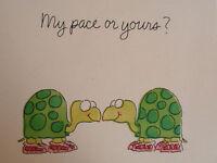 Vintage Hallmark LITE Large Greeting Card 1982 Turtles