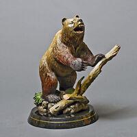 GORGEOUS BRONZE GRIZZLY BEAR SCULPTURE BARRY STEIN ART