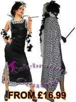 CRUELLA DE VILLE FANCY DRESS COSTUME WITH OPTIONAL ACCESSORIES
