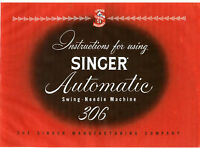 Singer 306 Model Owners Manual on CD in pdf file format