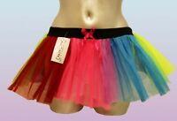 Neon Rainbow Tutu 80's Fancy Dress Party Tu Tu