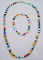 Lot of 12 Glass Bead Necklace & Bracelet Sets #S1062