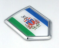 Yukon Canada Flag Chrome Emblem Car Decal Sticker