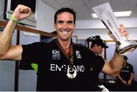 "Kevin Pietersen ""KP"" SIGNED Cricket 12x8 Photo AFTAL"
