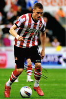 Connor Wickham HAND SIGNED Sunderland 12x8 Photo AFTAL