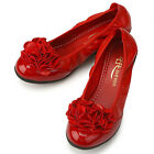 Womens Shoes Lovely Flower Wedge Heels Red