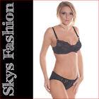 Loulou ensemble soutien-gorge et culotte coloris noir Skys Lingerie 105D/XL