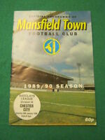 PROGRAMME - Mansfield Town v Chester City - Jan 28 1990
