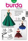 PATRON de robe / habits de poupée style Barbie BURDA n° 7336 NEUF